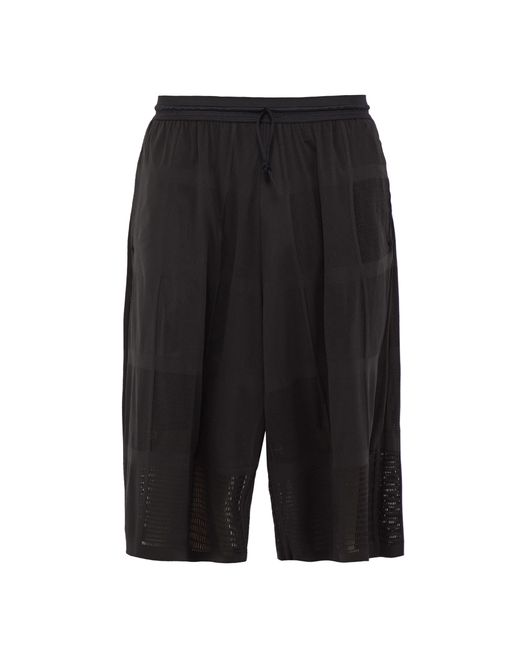 Y-3 - Black Short en résille for Men - Lyst