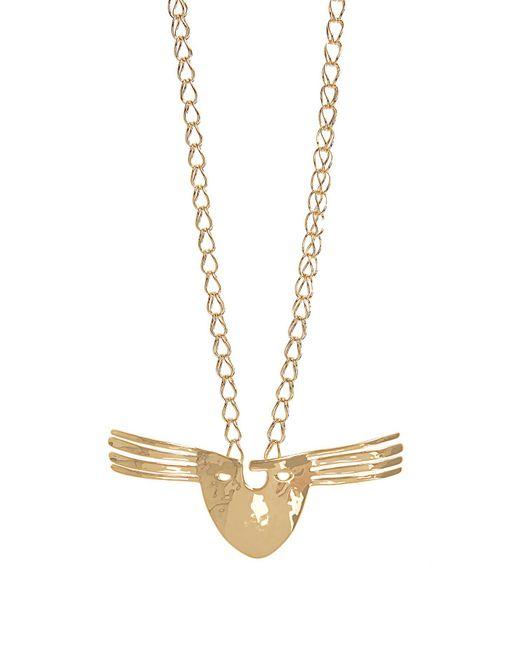 Aurelie Bidermann - Metallic Diamond, Multi Stone & Yellow Gold Necklace - Lyst