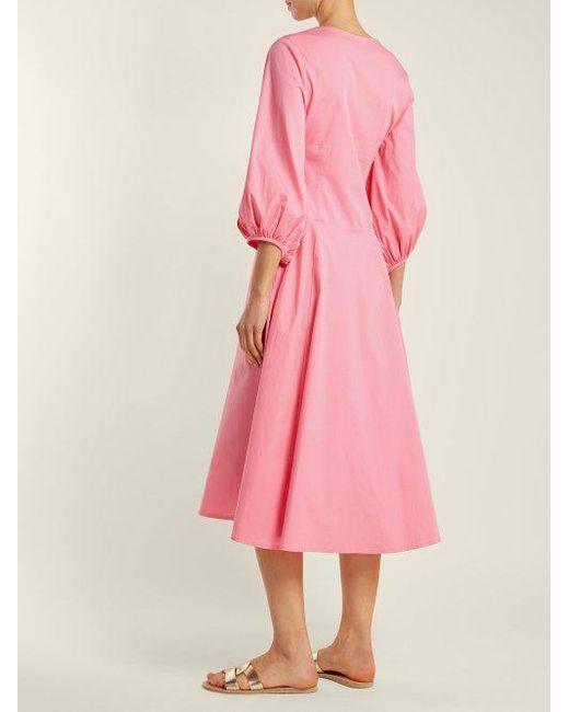 Veronica cotton-poplin midi dress Staud Many Kinds Of Cheap Price oofnMtTsW
