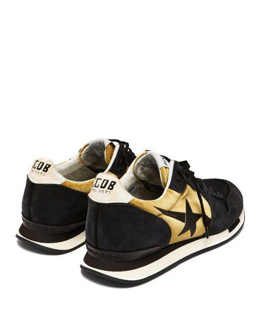 Perfect Sale Online Running suede and velvet trainers Golden Goose New Fashion Style Of Clearance Discounts Sl9XP9dQ