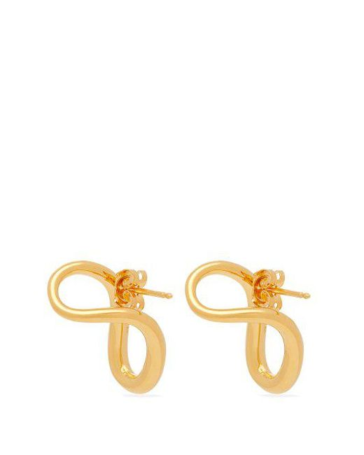 Charlotte Chesnais Slide gold-vermeil earrings