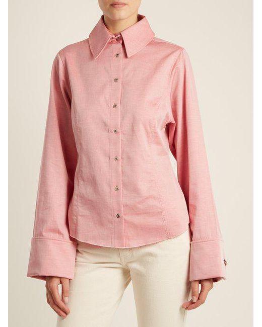 Raw-hem cotton-chambray shirt Marques Almeida Cheap New NzfML2bw