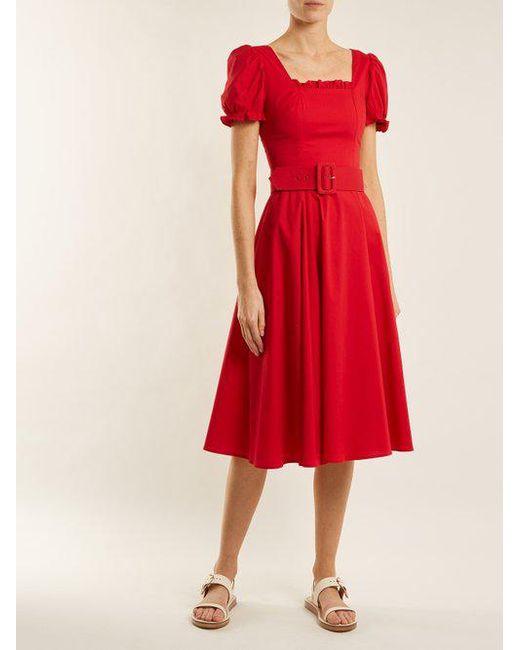 Maryann cotton dress Staud unrvlszNRh