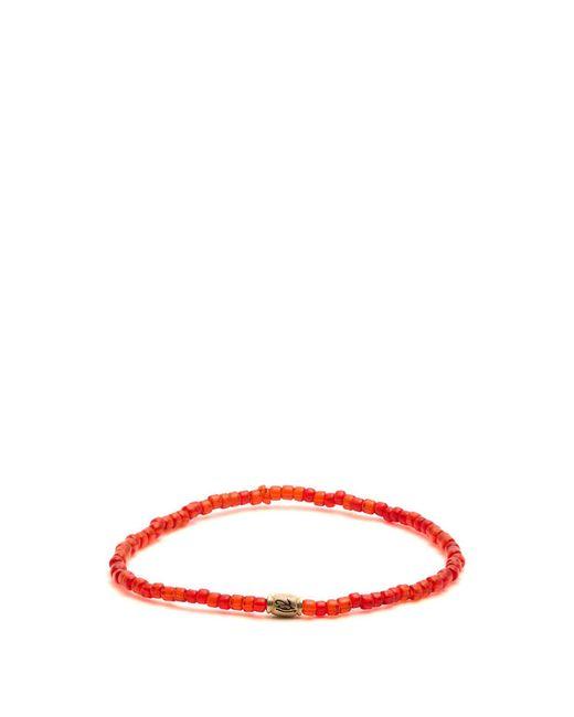Luis Morais - Red Mini Barrel Beaded Bracelet for Men - Lyst