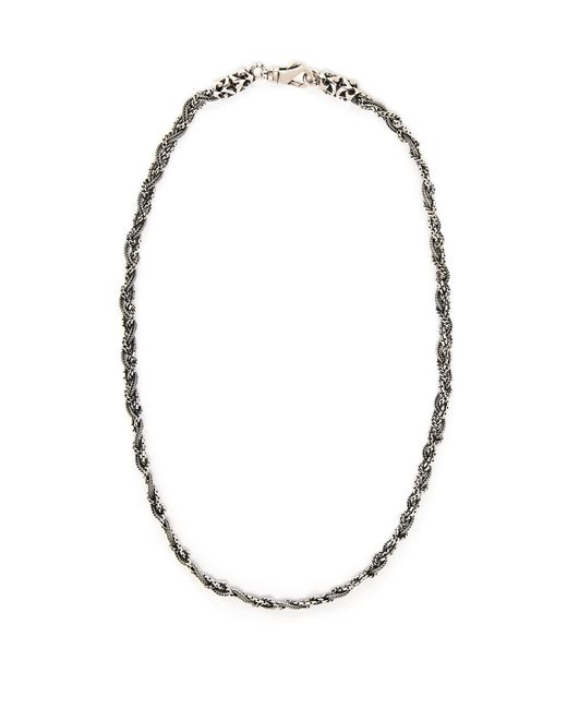 Emanuele Bicocchi - Metallic Braided Sterling Silver Necklace for Men - Lyst