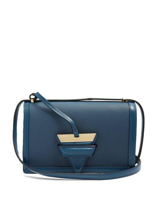 Loewe - Blue - Barcelona Medium Leather Shoulder Bag - Womens - Indigo - Lyst