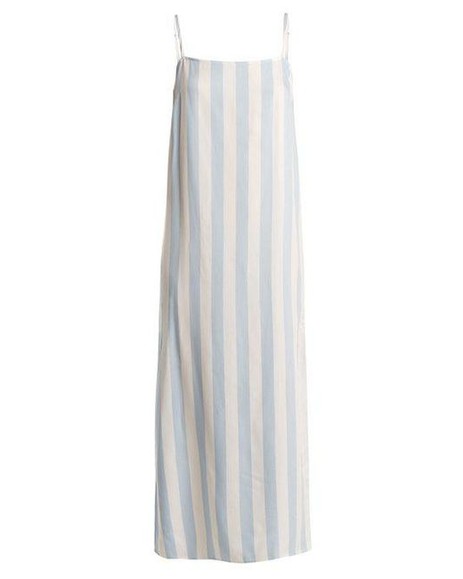 Mara Hoffman - Blue Sena Square Neck Striped Dress - Lyst