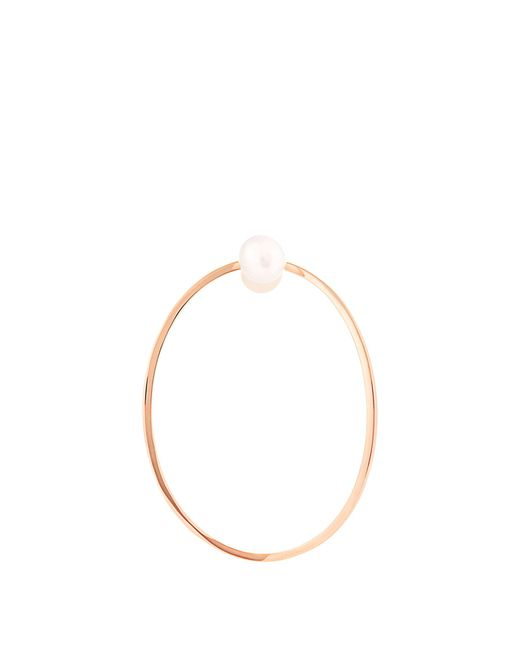 Delfina Delettrez | Metallic Pearl & Pink-gold Medium Earring | Lyst