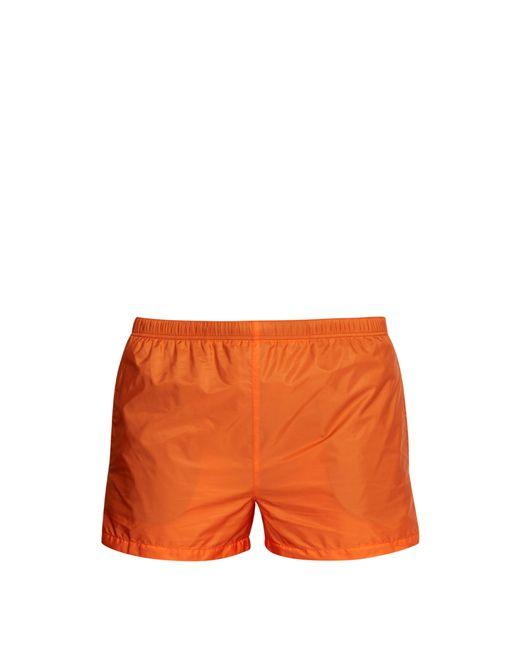 Prada - Orange Short de bain en nylon for Men - Lyst