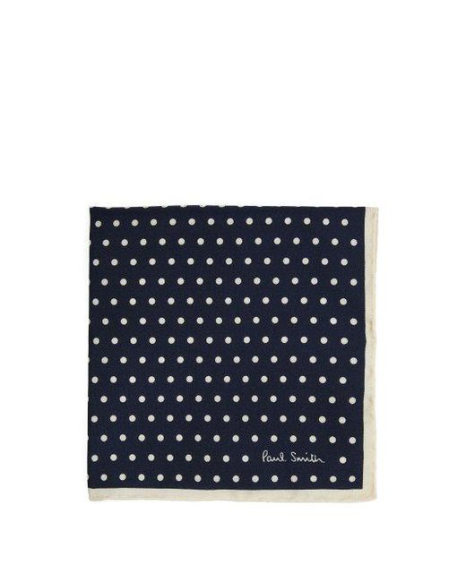 Polka-dot Silk-twill Pocket Square Paul Smith