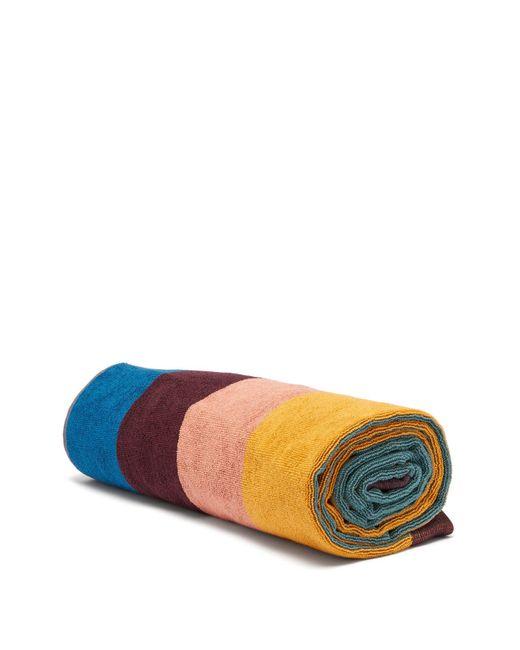 Paul Smith Multicolor Artist Stripe Cotton Terry Beach Towel for men