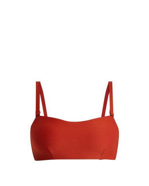 Beautiful Bottoms - Orange Textured Bandeau Bikini Top - Lyst