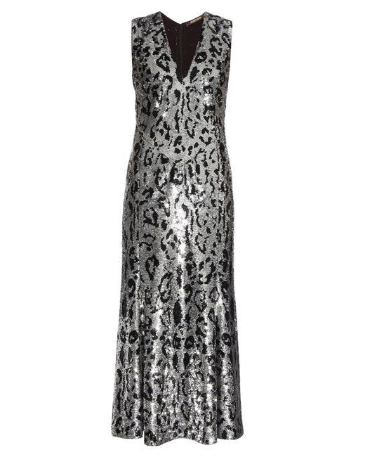 Roberto Cavalli - Metallic Leopard-Print Sequin-Embellished Gown - Lyst