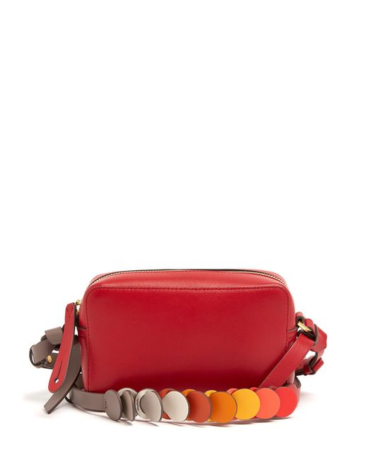 Anya Hindmarch | Red Circle Mini Leather Cross-body Bag | Lyst