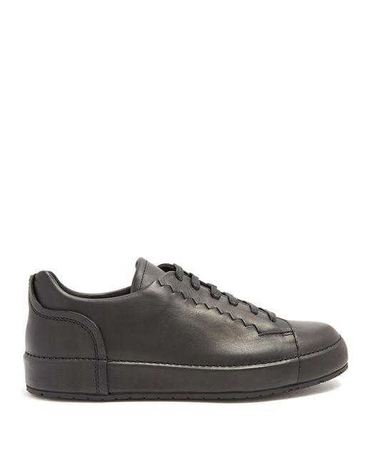 Bottega Veneta | Black Thibo Low-top Leather Trainers for Men | Lyst