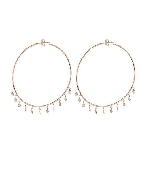 Jacquie Aiche - Pink Diamond & Rose-gold Earrings - Lyst