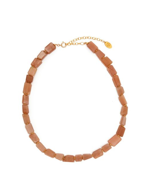 Elise Tsikis - Pink Libertad Beaded Necklace - Lyst