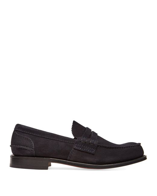 Church's - Blue Pembrey Suede Loafers for Men - Lyst
