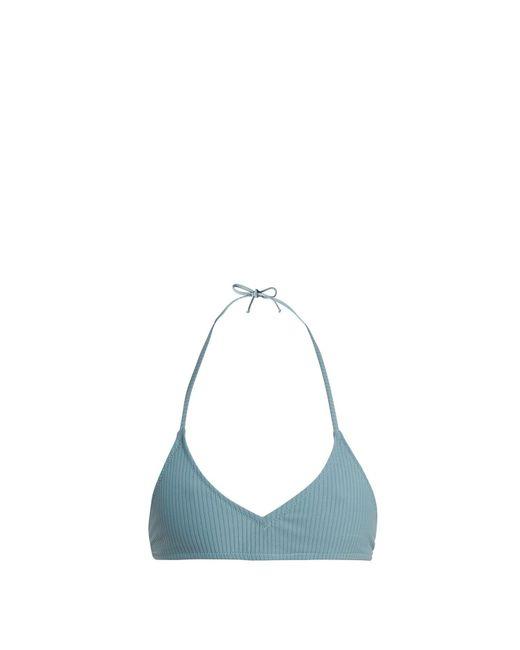 Made By Dawn - Blue Shell Ribbed Bikini Top - Lyst