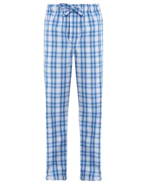 Derek Rose | Blue Ranga Checked Cotton Pyjama Trousers for Men | Lyst
