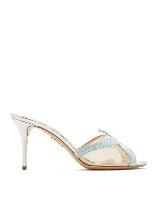 Charlotte Olympia - Multicolor Esther Starfish Sequin-embellished Mesh Mules - Lyst