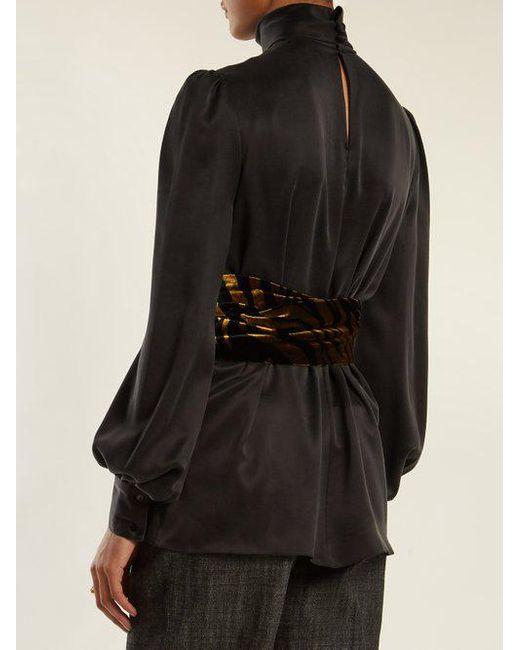 Bishop-sleeved tie-waist sandwashed-silk blouse Hillier Bartley Discount From China nnuQHVTaGZ