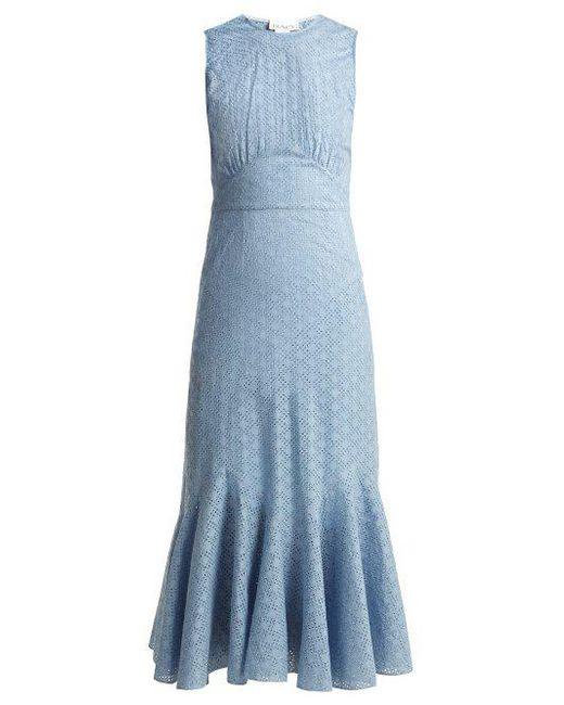 Broderie-anglaise fishtail dress Raey VBM7nORJai