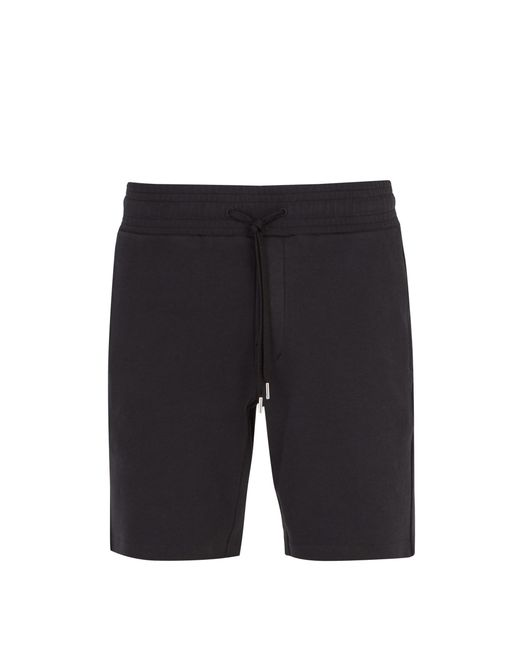 Frescobol Carioca - Black Straight Leg Cotton Blend Shorts for Men - Lyst
