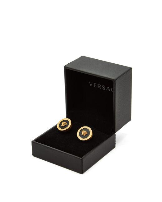 8550db1b7 ... Versace - Metallic Greek Key & Medusa Head Cufflinks for Men ...