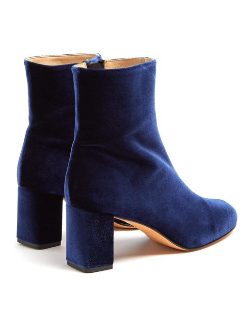 Buy Cheap Supply Agnes block-heel velvet ankle boots Maryam Nassir Zadeh Cut-Price Cheap New Low Cost Cheap Online Free Shipping Best Wholesale 0qgR1amqW