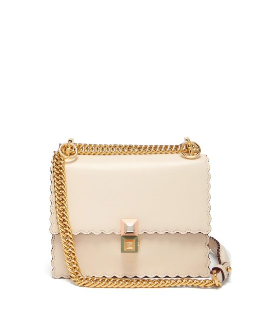 4e9933c8da Fendi - Natural Kan I Small Leather Cross Body Bag - Lyst ...