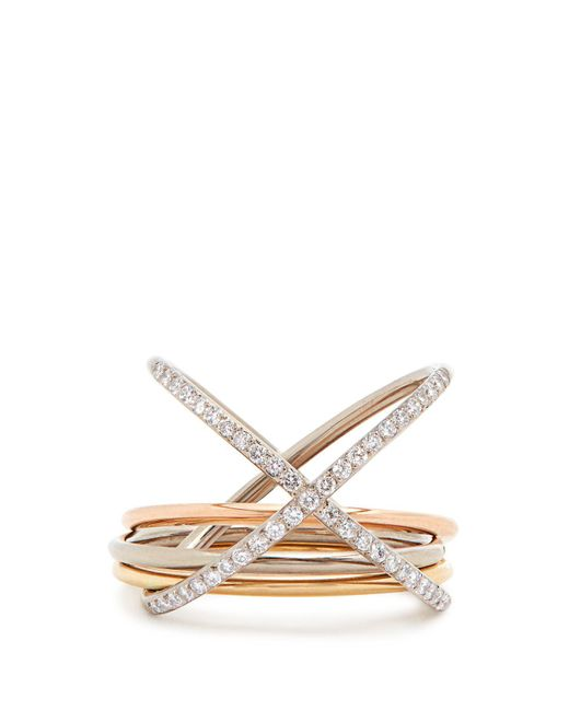 Charlotte Chesnais - Metallic Xxo Diamond & Gold Ring - Lyst
