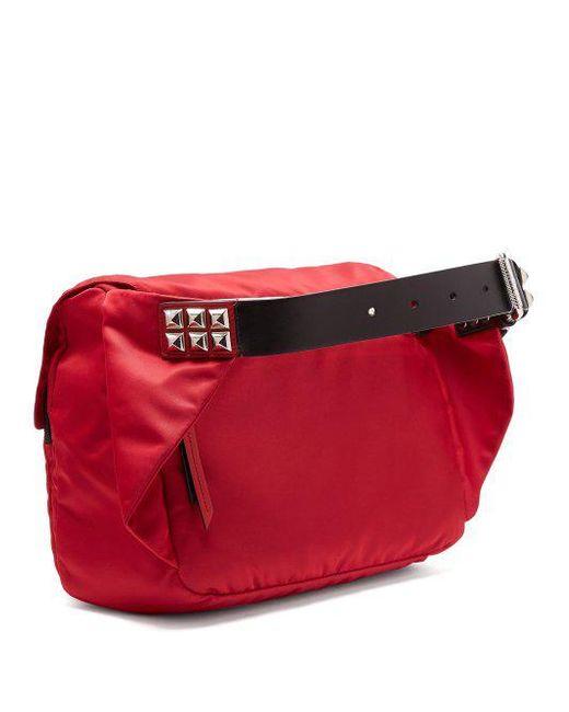 New Vela leather-trimmed belt bag Prada BOUkAA40