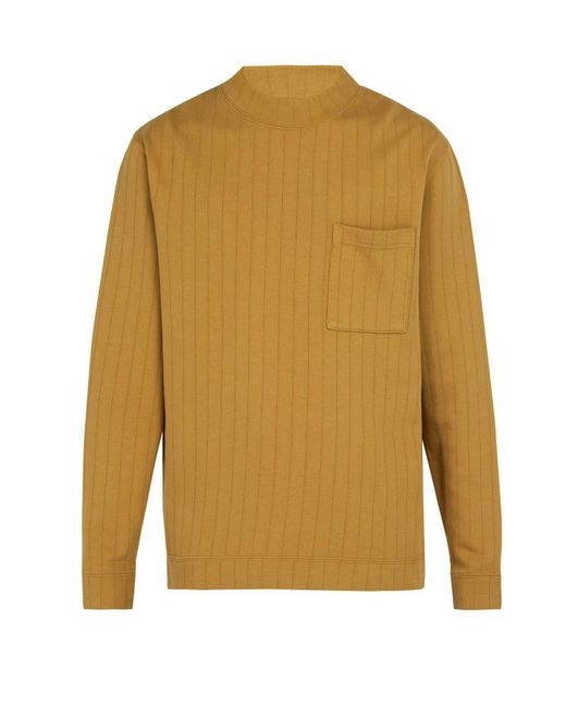 Saturdays NYC - Brown Elijah Long Sleeved Cotton Jersey T Shirt for Men - Lyst