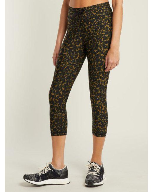 The Upside Green Nyc Leopard Camo Print Leggings Lyst