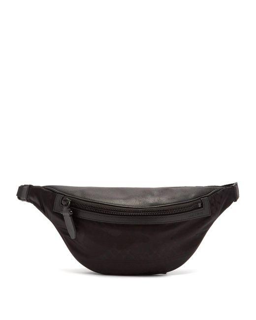 Neil Barrett - Black Leather Trimmed Nylon Belt Bag for Men - Lyst