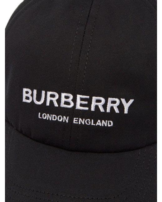 dcc94280c6 Burberry Logo Cap in Black for Men - Save 9% - Lyst