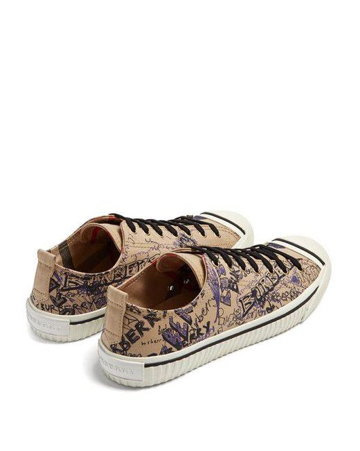 Kingley low-top cotton trainers Burberry iCFbjf