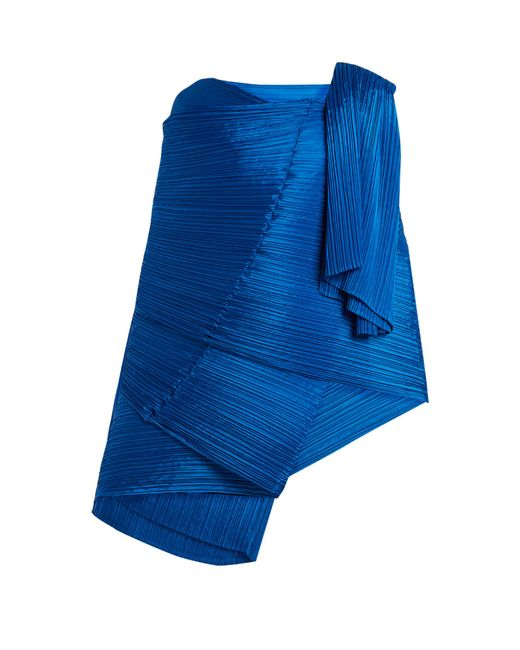 Pleats Please Issey Miyake | Blue Madame T Pleated Scarf | Lyst
