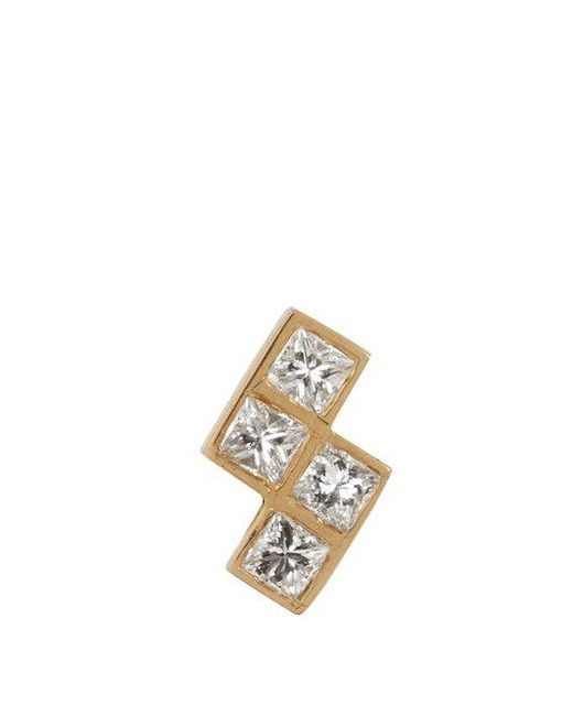 Ileana Makri - Multicolor Diamond & Yellow-gold Earring - Lyst