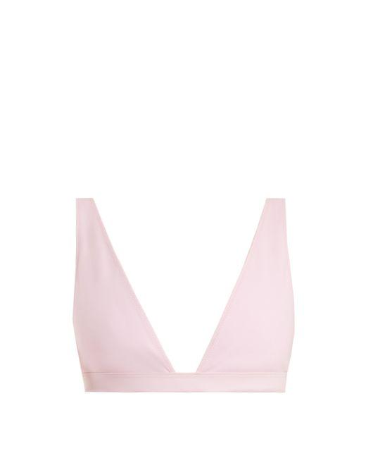 Rochelle Sara - Pink The Enga Triangle Bikini Top - Lyst