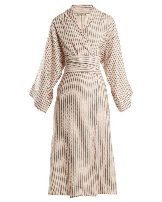 Three Graces London - Multicolor Isabella Striped Cotton Blend Robe - Lyst
