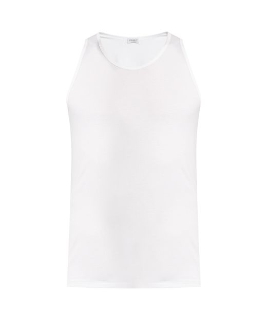 Zimmerli | White Pure Comfort Stretch-cotton Vest for Men | Lyst