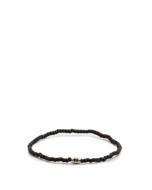 Luis Morais | Black Mini Barrel Beaded Bracelet for Men | Lyst