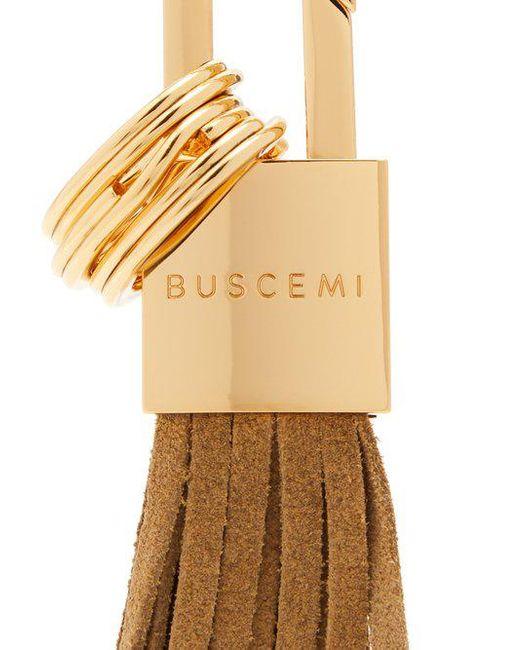 Buscemi Logo-engraved padlock key ring oi0bOPbt
