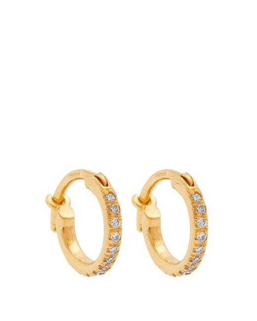 Ileana Makri - Metallic Diamond & Yellow Gold Earrings - Lyst