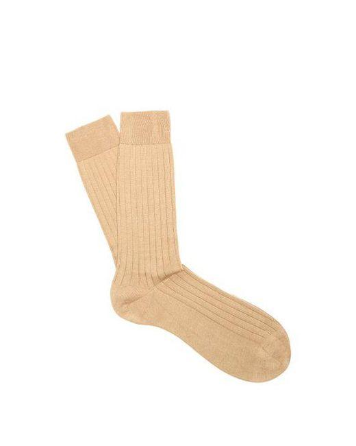 Pantherella - Natural Pembrey Cotton-blend Socks for Men - Lyst