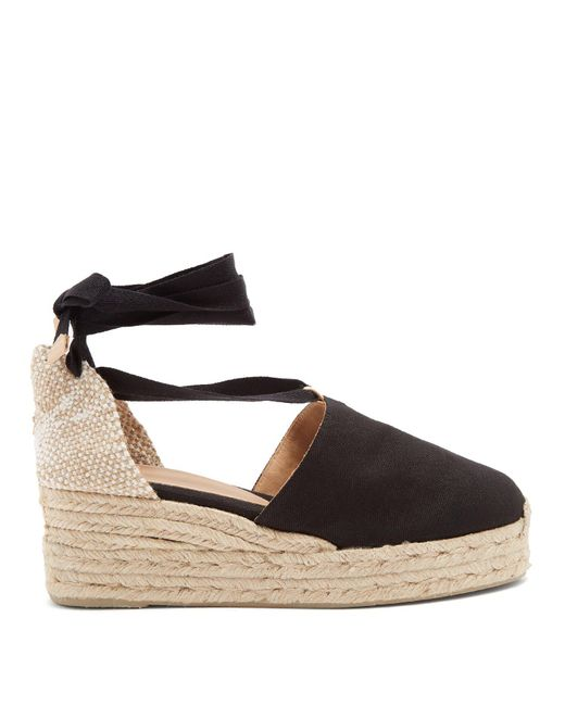 Castaner - Black Campesina Canvas Wedge Espadrilles - Lyst