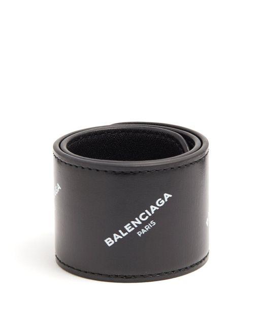 Balenciaga - - Cycle Logo Print Snap Bracelet - Mens - Black for Men - Lyst