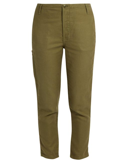 The Great - Green The Carpenter Low-slung Trousers - Lyst